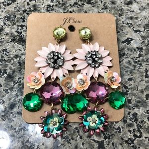 J. Crew Pastel Flower earrings